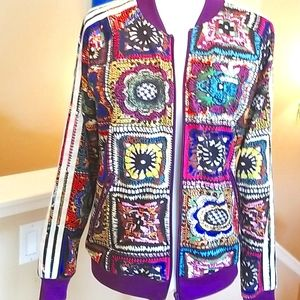 FARM Rio x Adidas RARE Crochet Patchwork Jacket M